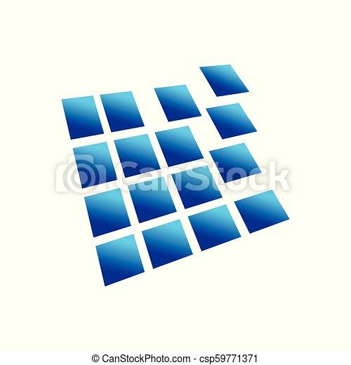 Digital Blocks Prespective 3D Box Symbol Design