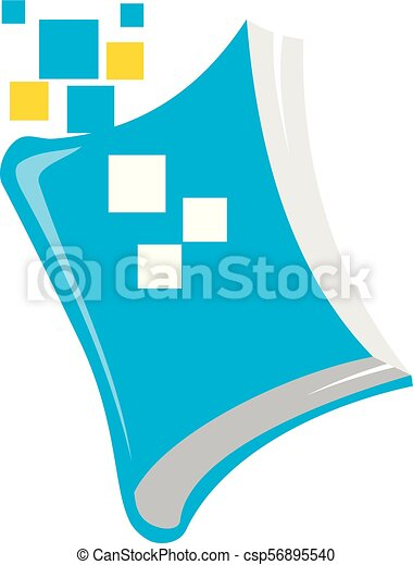 Digital Book Logo Design Template Vector