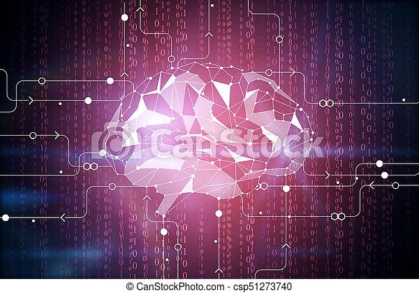 Digital brain backdrop - csp51273740