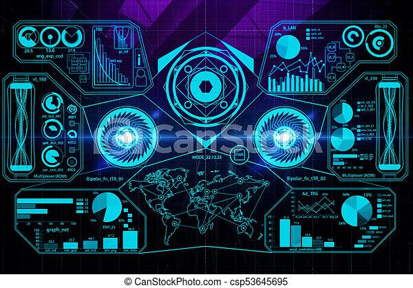Digital business screen wallpaper - csp53645695