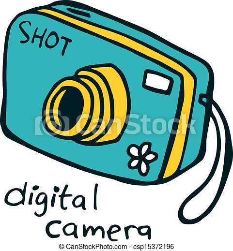 digital camera doodle eps vectors search clip art illustration rh canstockphoto com clipart camera gratuit clip art camera icon