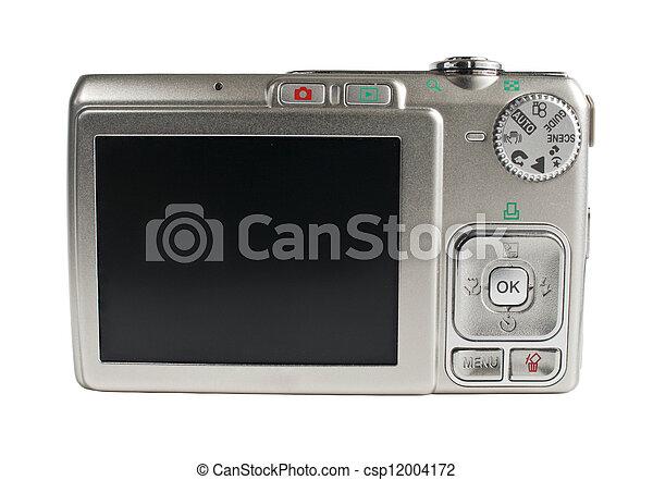Digital camera isolated on white - csp12004172