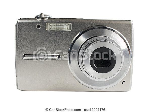 Digital camera isolated on white - csp12004176