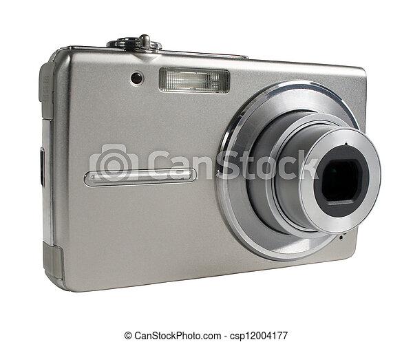 Digital camera isolated on white - csp12004177
