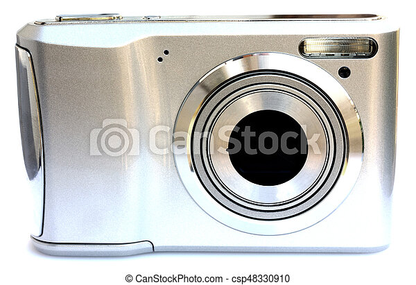 Digital camera isolated on white - csp48330910