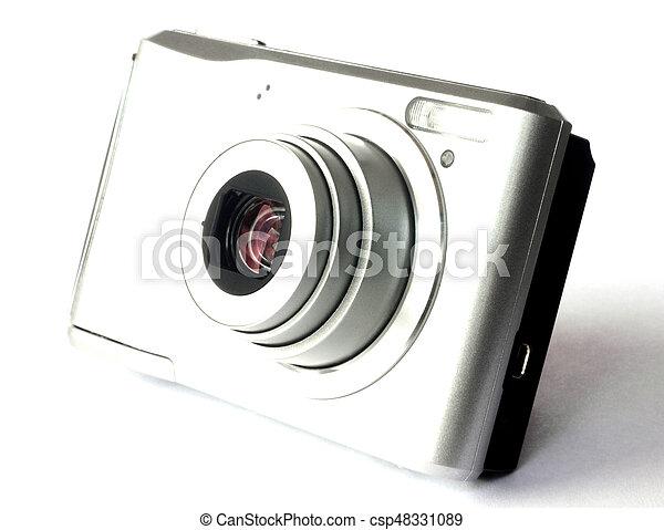 Digital camera isolated on white - csp48331089