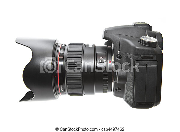 Digital camera isolated on white - csp4497462