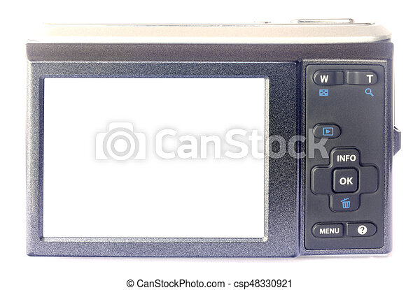 Digital camera isolated on white - csp48330921