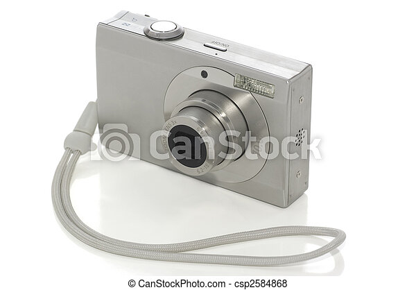 Digital camera on white - csp2584868