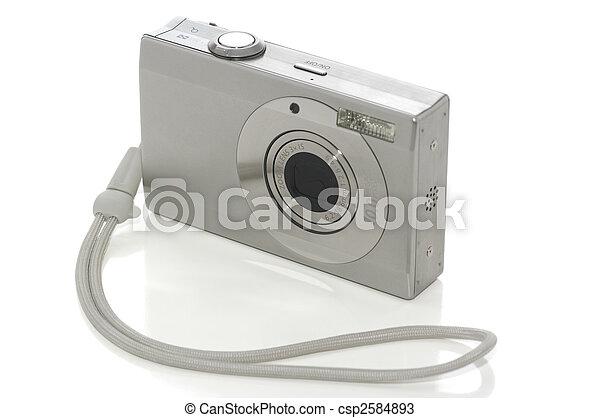 Digital camera on white - csp2584893