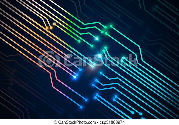 Abstract digital circuit background. technology concept. 3d... stock ...