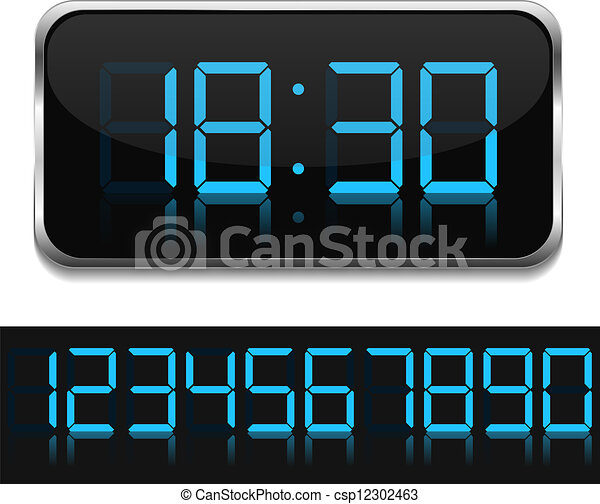 Digital Clock - csp12302463
