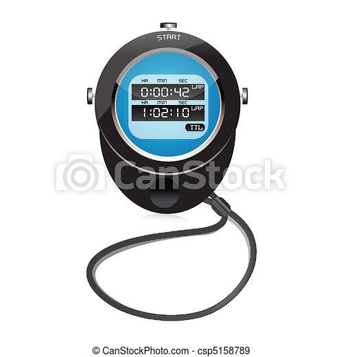 digital clock - csp5158789
