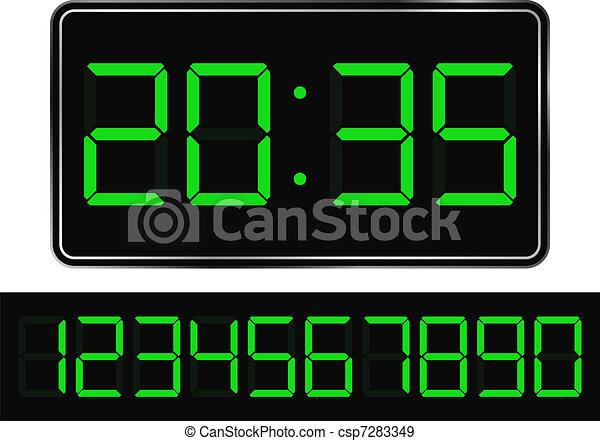 Digital Clock - csp7283349