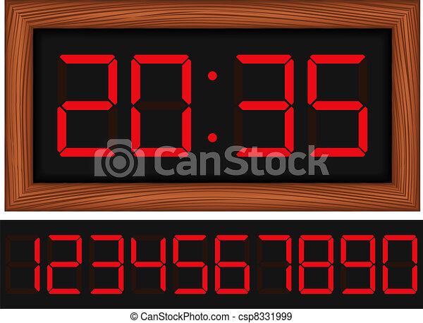 Digital Clock - csp8331999