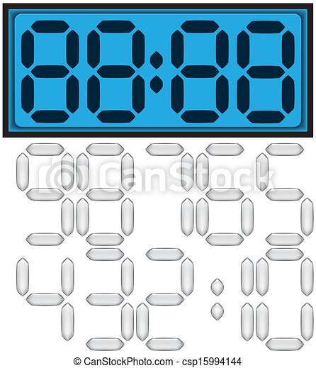 digital clock - csp15994144