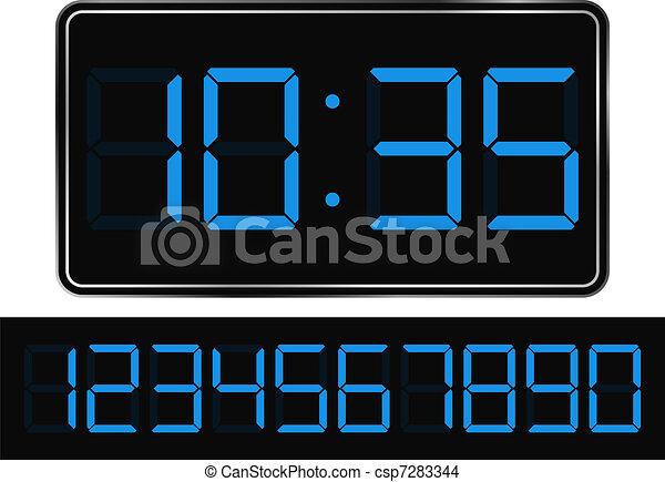 Digital Clock - csp7283344