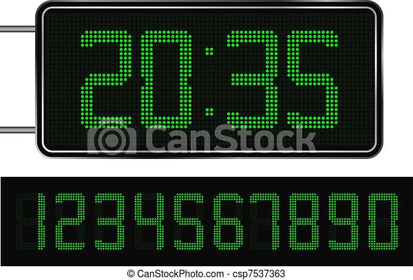 Digital Clock - csp7537363