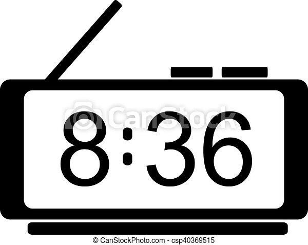 digital clock icon vector digital clock icon flat design rh canstockphoto ie digital clock clipart free digital clock clipart free