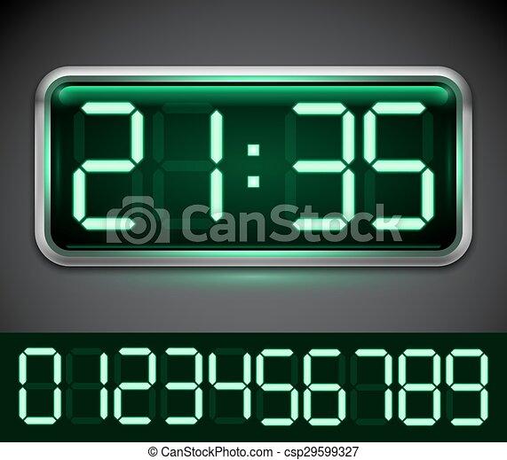 Digital Clock - csp29599327