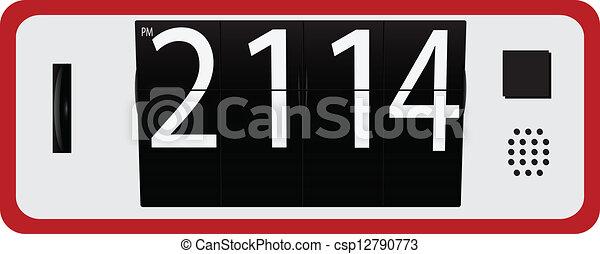 Digital Clock - csp12790773
