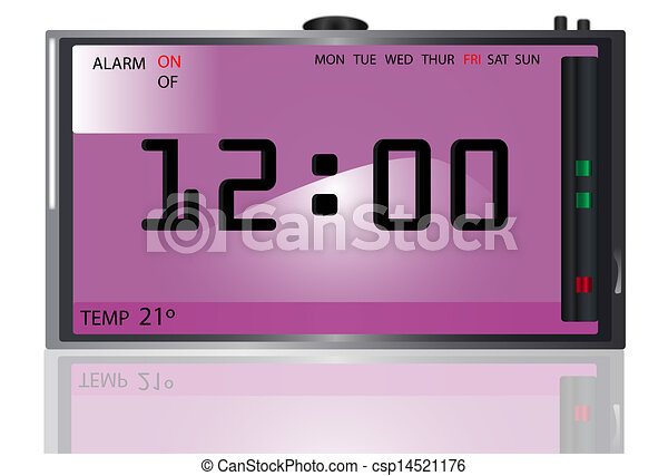 Digital clock - csp14521176