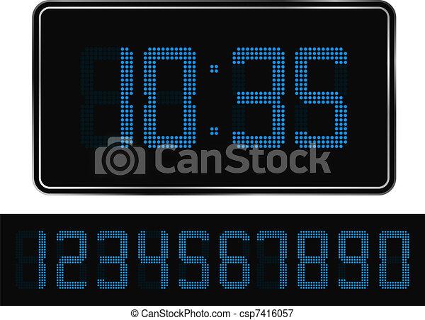 Digital Clock - csp7416057