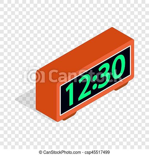 Digital clock isometric icon - csp45517499