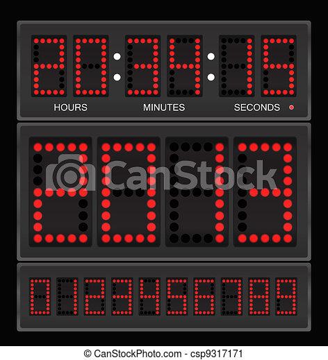 Digital clock - csp9317171