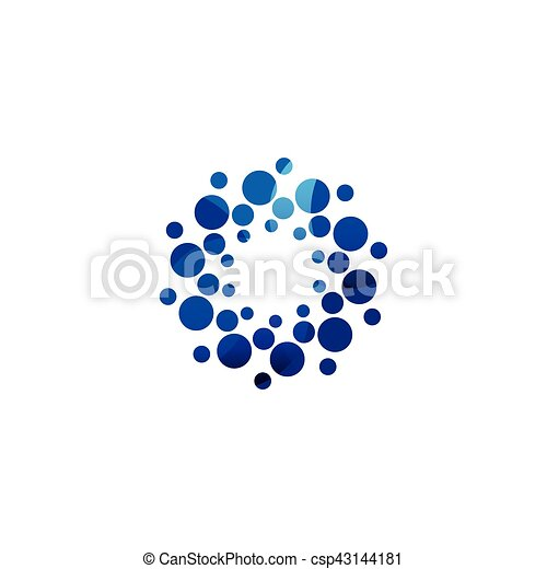 Digital colorful isolated circle logo template. stylized... vector ...
