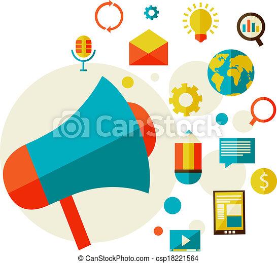 digital, conceito, marketing - csp18221564