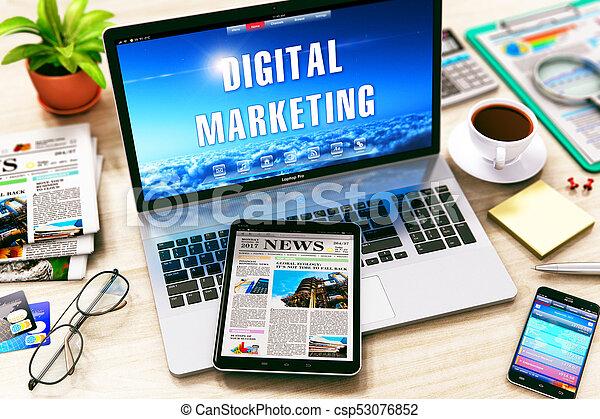 Un concepto de marketing digital - csp53076852