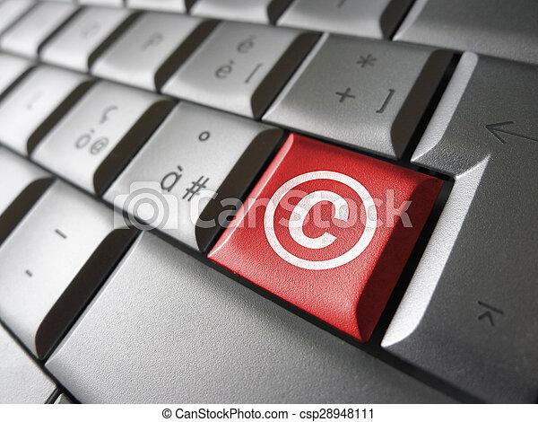 Digital Copyright Symbol Key Digital Copyright Web Content And
