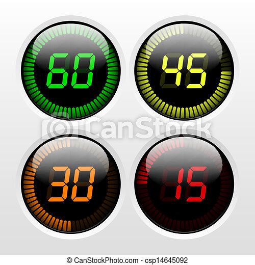 Digital Countdown Timer - csp14645092