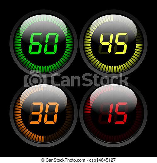 Digital Countdown Timer - csp14645127