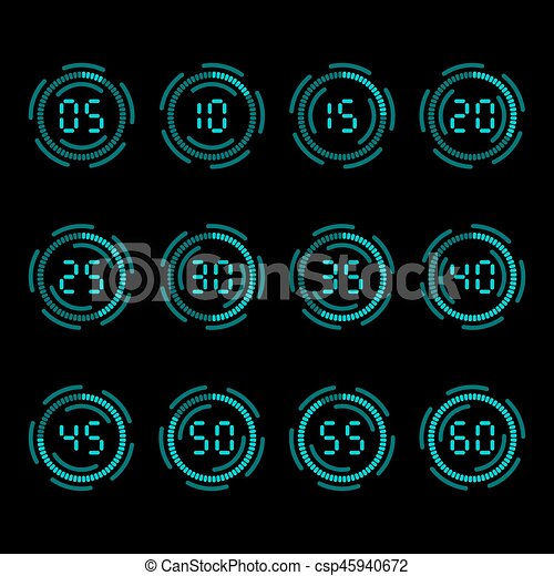 Digital countdown timer - csp45940672