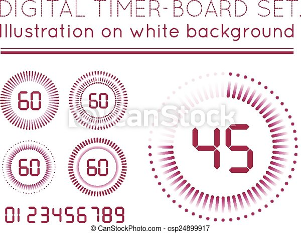 Digital Countdown Timer - csp24899917