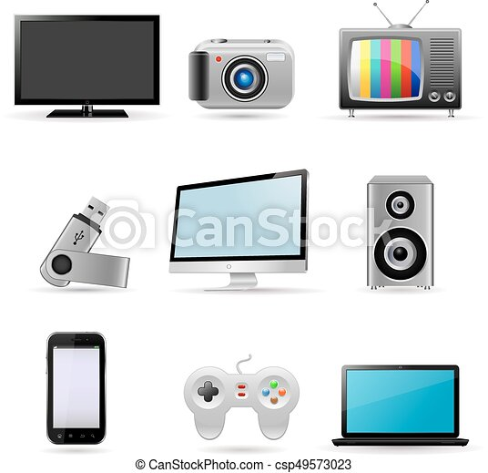 Digital devices icons - csp49573023