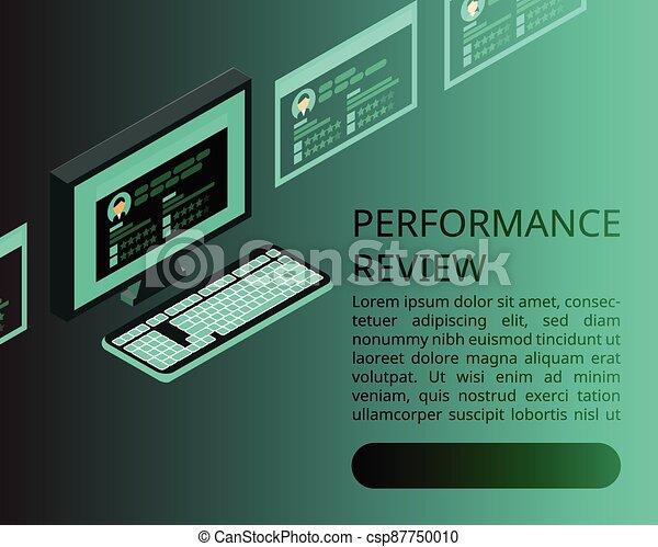 digital Employee performance review banner - csp87750010
