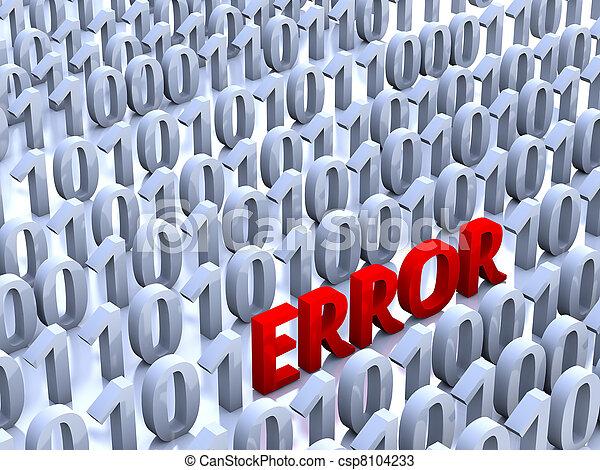 Digital Error - csp8104233