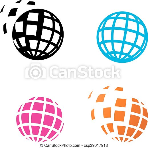 digital globe icon in silhouette style vector vector clip art rh canstockphoto com globe icon vector free download globe icon vector png