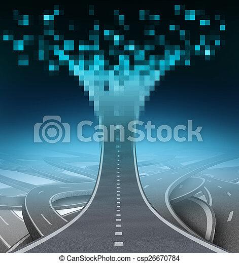 Digital Highway - csp26670784