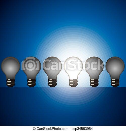 digital idea vector - csp34563954