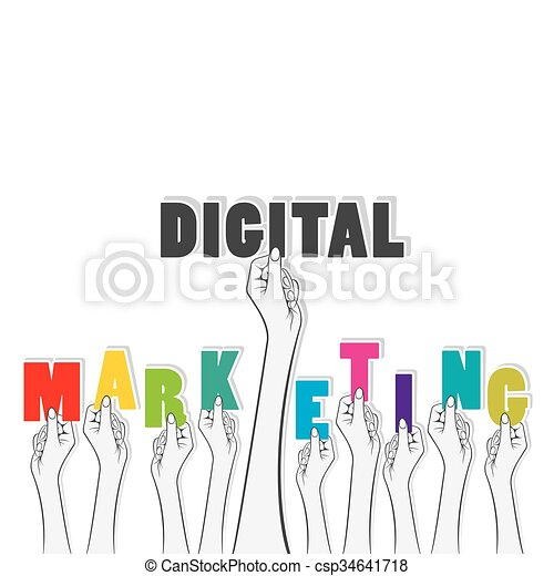 Vector Of Infographic Square Element Digital Marketing