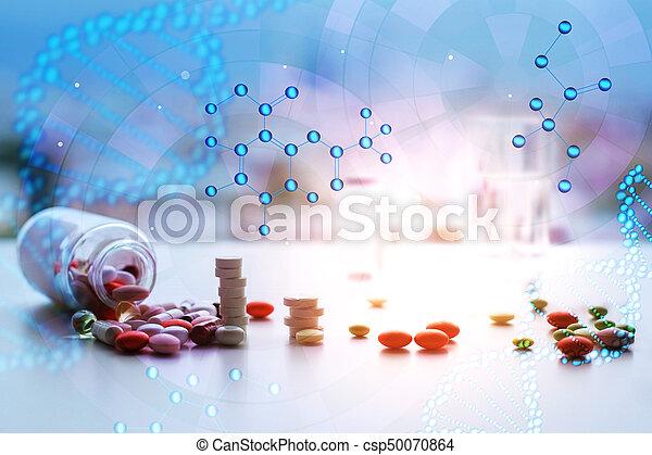 Digital medical backgorund - csp50070864