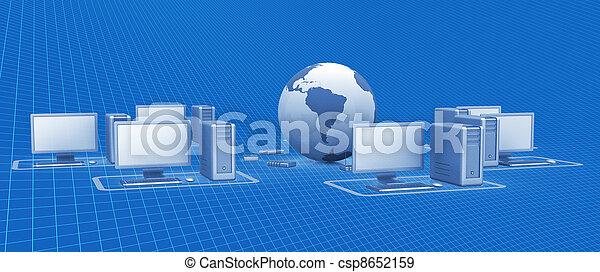 Digital network - csp8652159