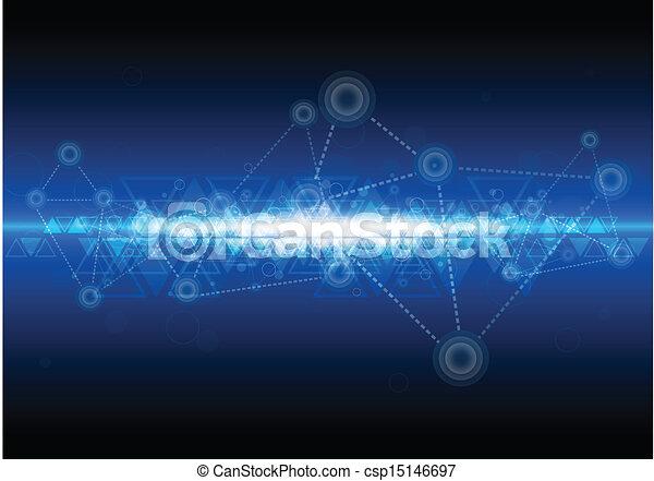 digital network technology background - csp15146697