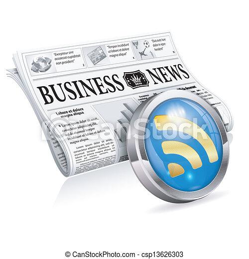 Digital News Concept - csp13626303