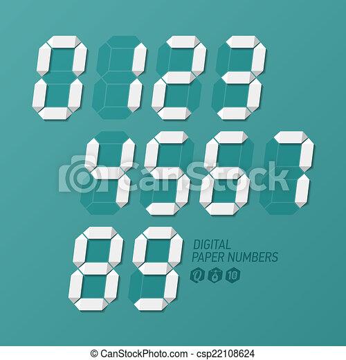 Digital paper numbers set - csp22108624