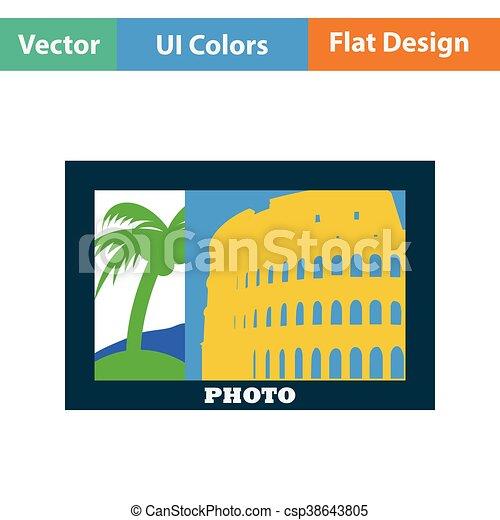 Digital photo frame icon - csp38643805